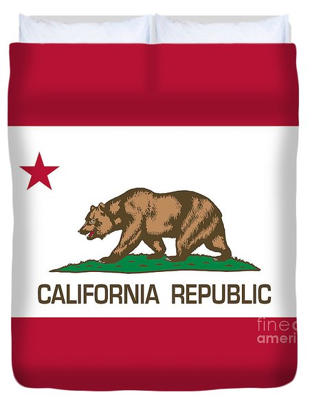 California Republic State Flag Authentic Version Duvet Cover