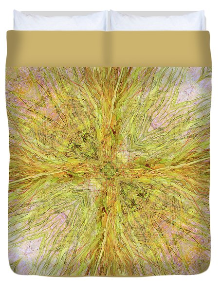 California Spring Oscillation Gemstone Duvet Cover