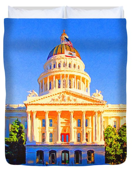 California State Capitol . Painterly Duvet Cover