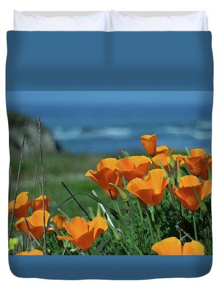 California State Flower - The Poppy Duvet Cover