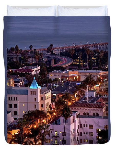 California Street At Ventura California Duvet Cover