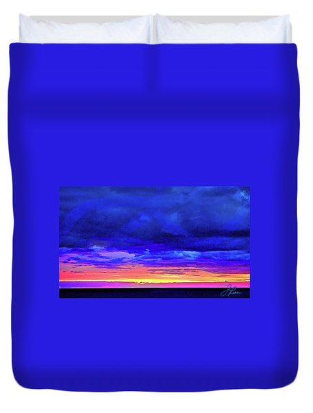 Duvet Cover featuring the painting California Sunrise by Joan Reese