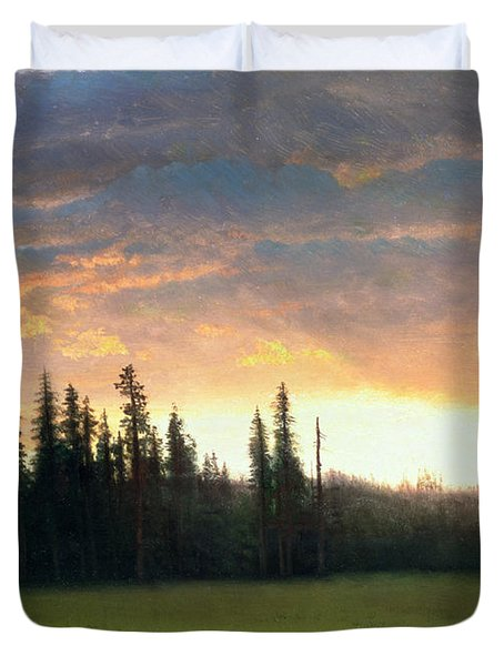 California Sunset Duvet Cover by Albert Bierstadt