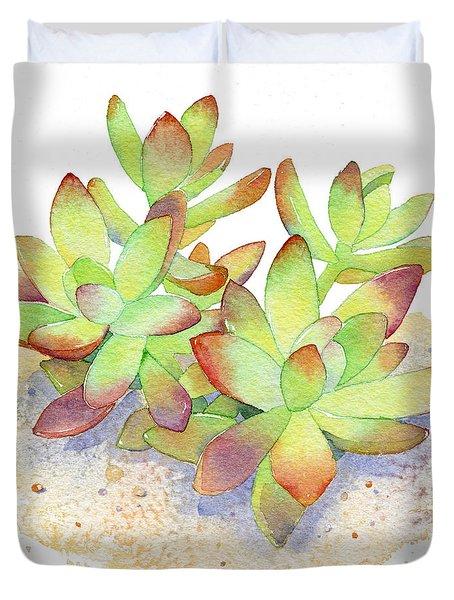California Sunset Succulent Duvet Cover