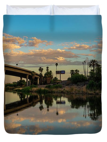 California To Arizona Duvet Cover