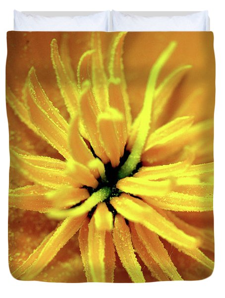 Californian Poppy Macro Duvet Cover
