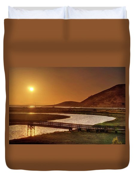 Duvet Cover featuring the photograph California's Wild West by Peter Thoeny