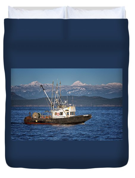 Duvet Cover featuring the photograph Caligus by Randy Hall