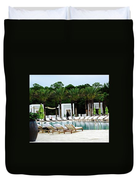 Caliza Pool In Alys Beach Duvet Cover