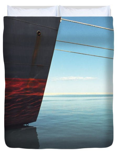 Call Of The Distant Shores Duvet Cover by Marc Nader