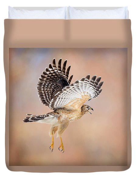Duvet Cover featuring the photograph Call Of The Wild Square by Bill Wakeley