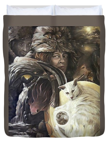 Call To The Spirits Duvet Cover