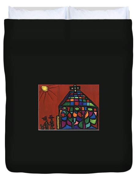 Call To Worship Duvet Cover