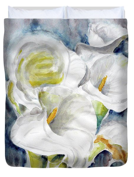 Duvet Cover featuring the painting Calla by Jasna Dragun