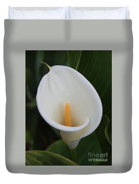 Perfect White Calla  Duvet Cover