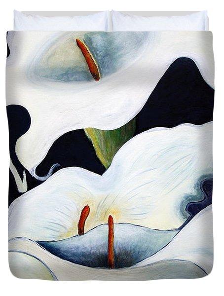 Calla Lilies.. Duvet Cover