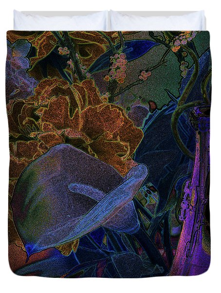 Calla Lily Abstract Duvet Cover by Stuart Turnbull