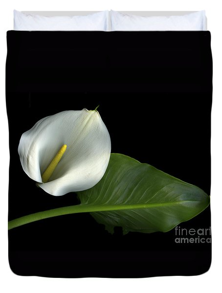 Calla Lily Duvet Cover by Christian Slanec