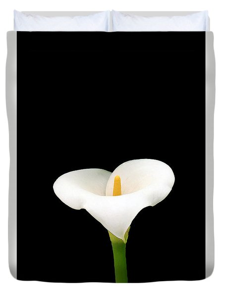 Duvet Cover featuring the photograph Calla Lily by Lynn Bolt