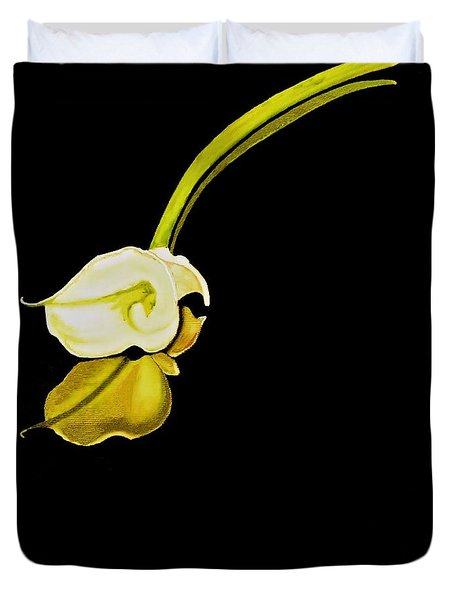 Calla Lily Reflection Duvet Cover