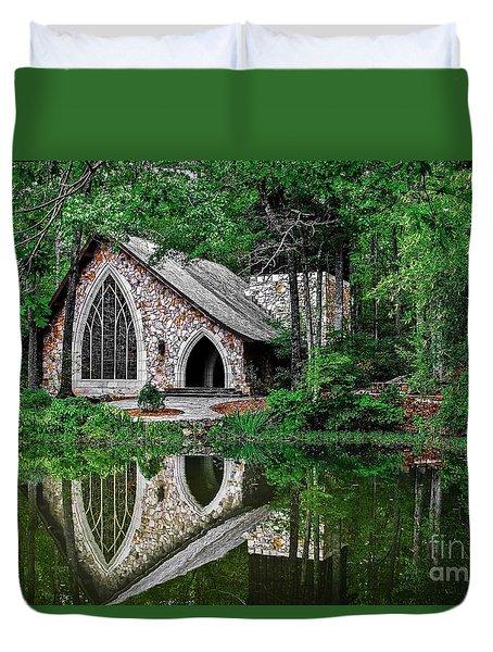 Callaway Gardens Ida Cason Chapel Duvet Cover