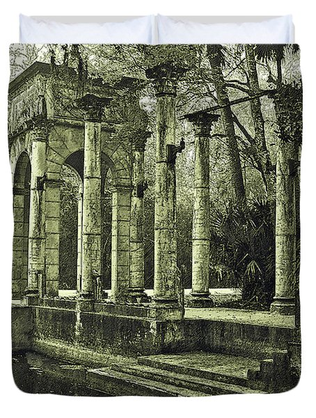 Calle Grande Ruins Duvet Cover by DigiArt Diaries by Vicky B Fuller