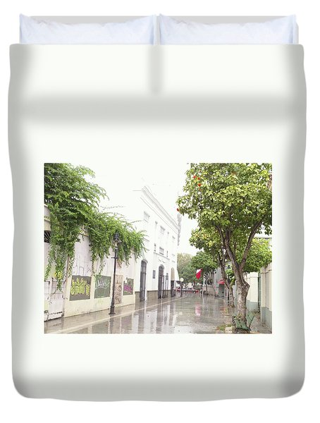 Callejon Amor, Ponce, Puerto Rico Duvet Cover