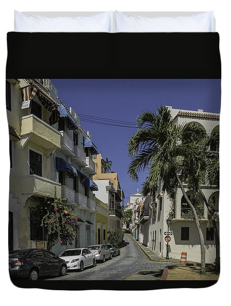 Duvet Cover featuring the photograph Callejon De Las Monjas by Jose Oquendo