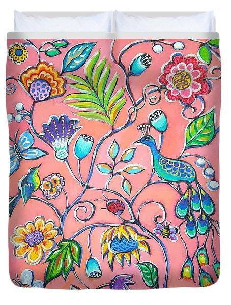 Callies Garden Duvet Cover by Sandra Lett