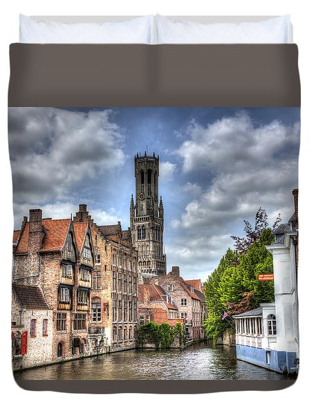Calm Afternoon In Bruges Duvet Cover