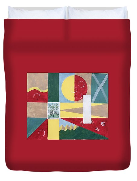 Calm And Chaos Duvet Cover
