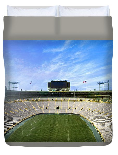 Duvet Cover featuring the photograph Calm Before The Game by Joel Witmeyer