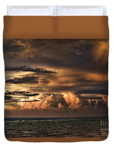 Calm Before The Storm Duvet Cover by Judy Wolinsky