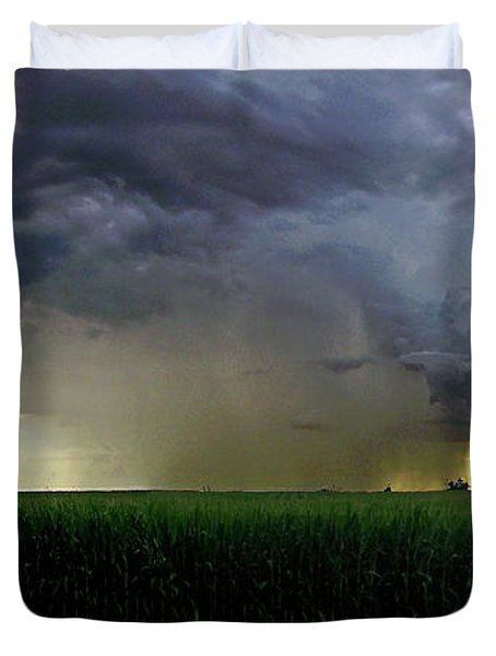 Calm Before The Storm Duvet Cover by Sue Stefanowicz