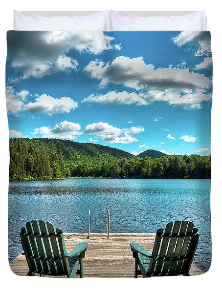 Calm In The Adirondacks Duvet Cover