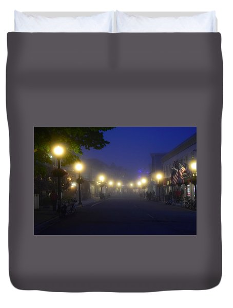 Calm In The Streets Duvet Cover