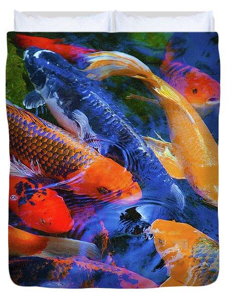 Calm Koi Fish Duvet Cover