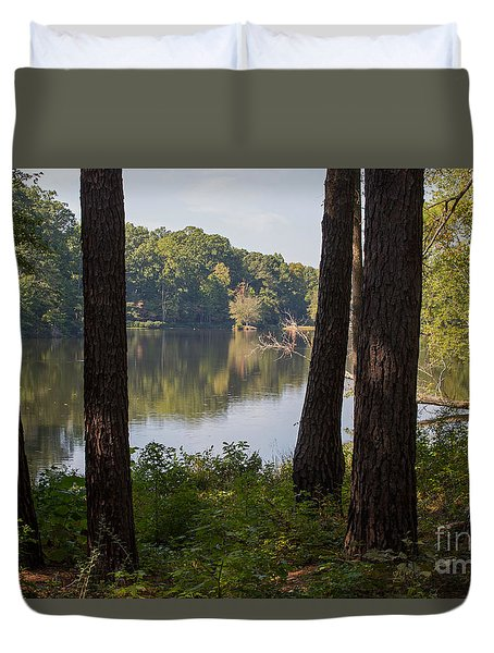 Calm Lake Waters Duvet Cover by Kevin McCarthy