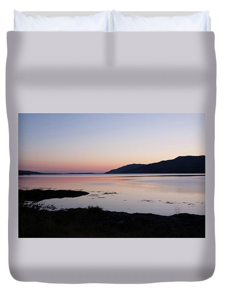 Calm Sunset Loch Scridain Duvet Cover