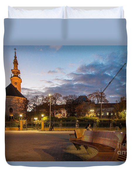 Calm Twilight In Novi Sad Vojvodina Duvet Cover
