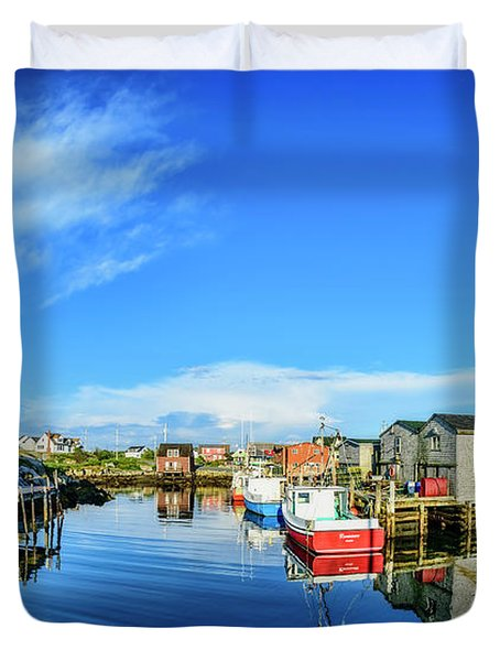 Calm Water At Peggys Cove Duvet Cover