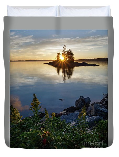 Calm Water At Sunset, Harpswell, Maine -99056-99058 Duvet Cover
