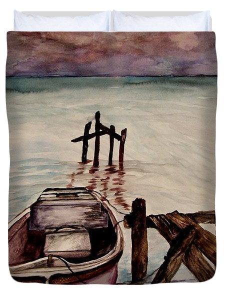 Calm Waters Duvet Cover by Lil Taylor