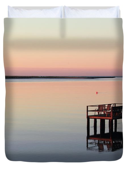 Duvet Cover featuring the photograph Calm Waters by Roupen  Baker