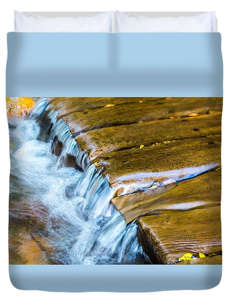 Calming Cascade Duvet Cover by Rhys Arithson