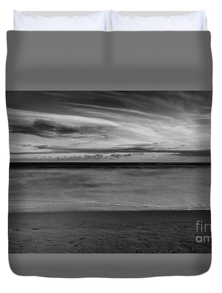 Duvet Cover featuring the photograph Calming Seas by Linda Lees