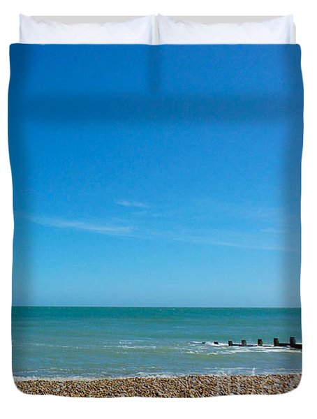 Calming Seaside View Duvet Cover