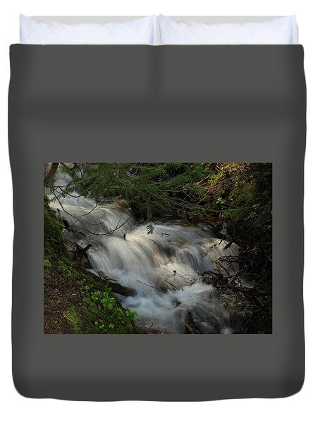 Calming Stream Duvet Cover by DeeLon Merritt