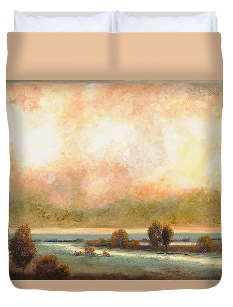 Calor Bianco Duvet Cover by Guido Borelli