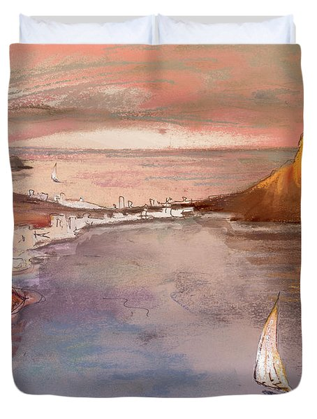 Calpe At Sunset Duvet Cover